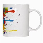 Crazy Multicolored Double Running Splashes White Mugs Right