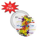 Crazy Multicolored Double Running Splashes 1.75  Buttons (10 pack) Front