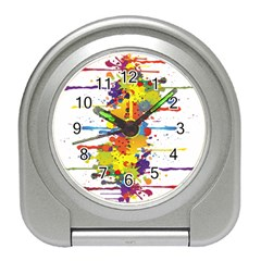 Crazy Multicolored Double Running Splashes Travel Alarm Clocks