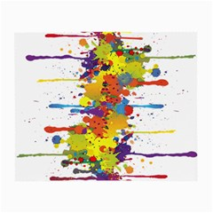 Crazy Multicolored Double Running Splashes Small Glasses Cloth by EDDArt
