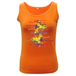 Crazy Multicolored Double Running Splashes Women s Dark Tank Top Front