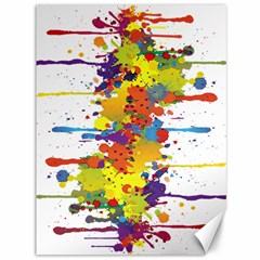 Crazy Multicolored Double Running Splashes Canvas 36  X 48   by EDDArt