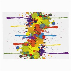 Crazy Multicolored Double Running Splashes Large Glasses Cloth by EDDArt