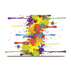 Crazy Multicolored Double Running Splashes Plate Mats by EDDArt