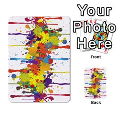 Crazy Multicolored Double Running Splashes Multi Purpose Cards (rectangle)  by EDDArt