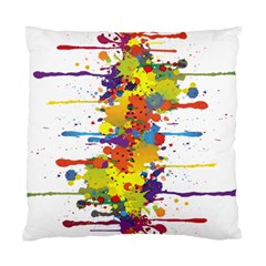 Crazy Multicolored Double Running Splashes Standard Cushion Case (one Side) by EDDArt