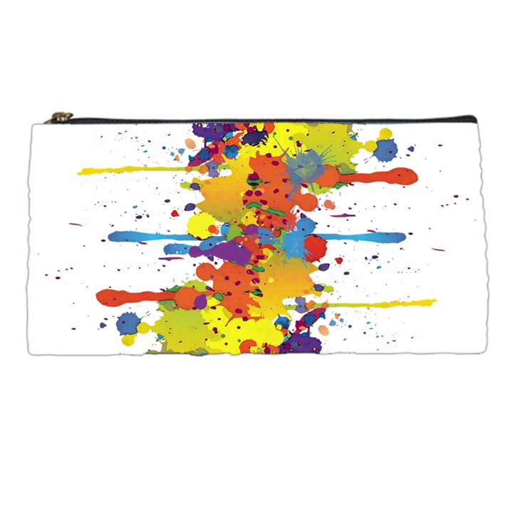 Crazy Multicolored Double Running Splashes Pencil Cases