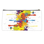 Crazy Multicolored Double Running Splashes Pencil Cases Back