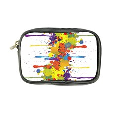 Crazy Multicolored Double Running Splashes Coin Purse by EDDArt