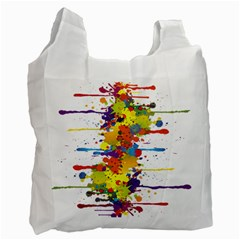 Crazy Multicolored Double Running Splashes Recycle Bag (one Side) by EDDArt