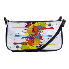 Crazy Multicolored Double Running Splashes Shoulder Clutch Bags by EDDArt