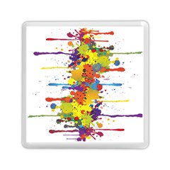 Crazy Multicolored Double Running Splashes Memory Card Reader (square)  by EDDArt