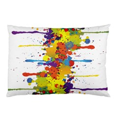 Crazy Multicolored Double Running Splashes Pillow Case (two Sides)