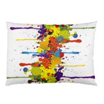 Crazy Multicolored Double Running Splashes Pillow Case (Two Sides) Back