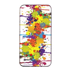 Crazy Multicolored Double Running Splashes Apple Iphone 4/4s Seamless Case (black) by EDDArt