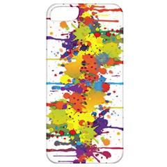 Crazy Multicolored Double Running Splashes Apple Iphone 5 Classic Hardshell Case by EDDArt