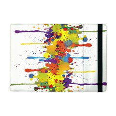Crazy Multicolored Double Running Splashes Apple Ipad Mini Flip Case by EDDArt