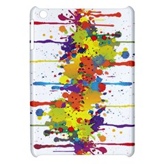 Crazy Multicolored Double Running Splashes Apple Ipad Mini Hardshell Case by EDDArt