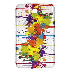Crazy Multicolored Double Running Splashes Samsung Galaxy Tab 3 (7 ) P3200 Hardshell Case  by EDDArt
