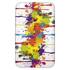 Crazy Multicolored Double Running Splashes Samsung Galaxy Tab 3 (8 ) T3100 Hardshell Case  by EDDArt