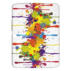Crazy Multicolored Double Running Splashes Samsung Galaxy Tab 3 (10 1 ) P5200 Hardshell Case  by EDDArt