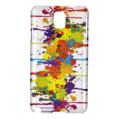 Crazy Multicolored Double Running Splashes Samsung Galaxy Note 3 N9005 Hardshell Case by EDDArt