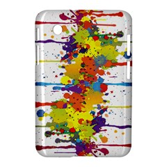 Crazy Multicolored Double Running Splashes Samsung Galaxy Tab 2 (7 ) P3100 Hardshell Case
