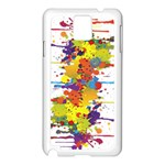 Crazy Multicolored Double Running Splashes Samsung Galaxy Note 3 N9005 Case (White) Front