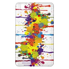 Crazy Multicolored Double Running Splashes Samsung Galaxy Tab Pro 8 4 Hardshell Case by EDDArt