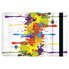 Crazy Multicolored Double Running Splashes Ipad Air Flip by EDDArt