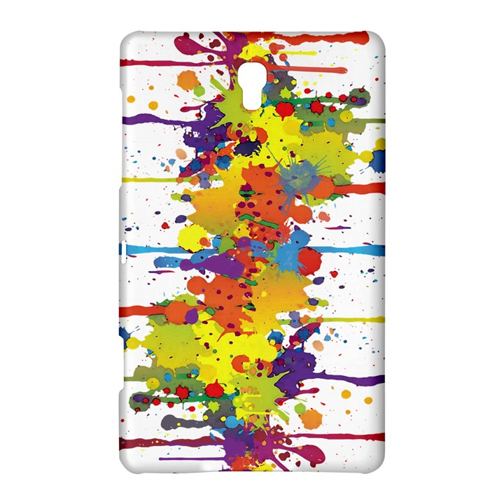 Crazy Multicolored Double Running Splashes Samsung Galaxy Tab S (8.4 ) Hardshell Case