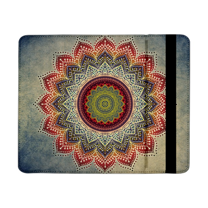 Folk Art Lotus Mandala Dirty Blue Red Samsung Galaxy Tab Pro 8.4  Flip Case