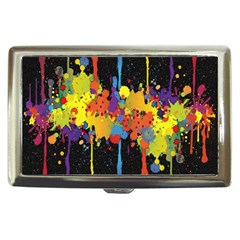 Crazy Multicolored Double Running Splashes Horizon Cigarette Money Cases by EDDArt