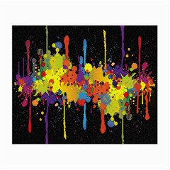 Crazy Multicolored Double Running Splashes Horizon Small Glasses Cloth by EDDArt