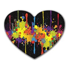 Crazy Multicolored Double Running Splashes Horizon Heart Mousepads