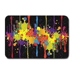 Crazy Multicolored Double Running Splashes Horizon Plate Mats by EDDArt