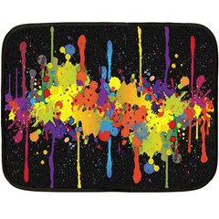 Crazy Multicolored Double Running Splashes Horizon Fleece Blanket (mini) by EDDArt
