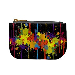 Crazy Multicolored Double Running Splashes Horizon Mini Coin Purses by EDDArt