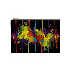 Crazy Multicolored Double Running Splashes Horizon Cosmetic Bag (medium)