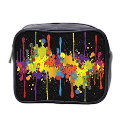 Crazy Multicolored Double Running Splashes Horizon Mini Toiletries Bag 2 Side by EDDArt
