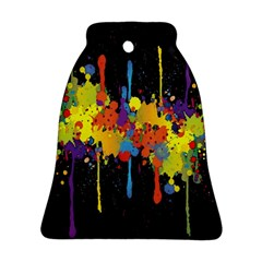 Crazy Multicolored Double Running Splashes Horizon Bell Ornament (2 Sides) by EDDArt
