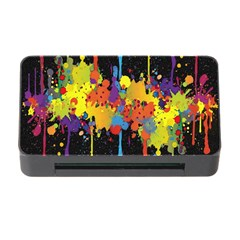 Crazy Multicolored Double Running Splashes Horizon Memory Card Reader With Cf by EDDArt