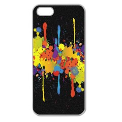 Crazy Multicolored Double Running Splashes Horizon Apple Seamless Iphone 5 Case (clear) by EDDArt