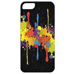 Crazy Multicolored Double Running Splashes Horizon Apple Iphone 5 Classic Hardshell Case