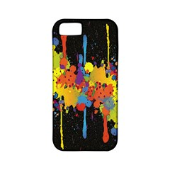 Crazy Multicolored Double Running Splashes Horizon Apple Iphone 5 Classic Hardshell Case (pc+silicone) by EDDArt