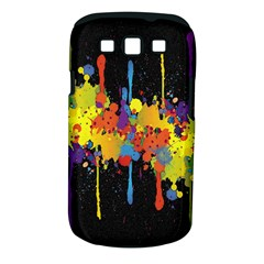 Crazy Multicolored Double Running Splashes Horizon Samsung Galaxy S Iii Classic Hardshell Case (pc+silicone) by EDDArt