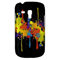 Crazy Multicolored Double Running Splashes Horizon Samsung Galaxy S3 Mini I8190 Hardshell Case by EDDArt