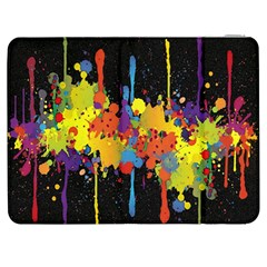 Crazy Multicolored Double Running Splashes Horizon Samsung Galaxy Tab 7  P1000 Flip Case by EDDArt