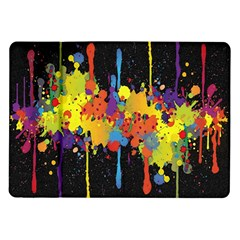 Crazy Multicolored Double Running Splashes Horizon Samsung Galaxy Tab 10 1  P7500 Flip Case by EDDArt
