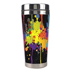 Crazy Multicolored Double Running Splashes Horizon Stainless Steel Travel Tumblers by EDDArt